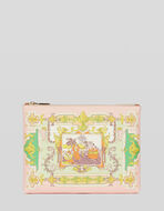 ORNAMENTAL SCARF PRINT CLUTCH BAG