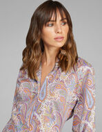 素色PAISLEY花纹衬衫