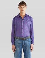小ぶりペイズリー柄 コットンシャツ