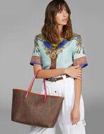 PAISLEY 设计彩色细节购物袋