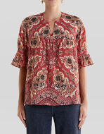PAISLEY PATTERN COTTON TOP