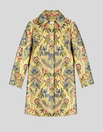JACQUARD TAILORED COAT WITH FLOWERS