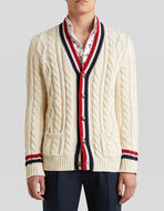 CARDIGAN IN COTTON CABLE