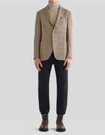 CHECK CASHMERE TAILORED JACKET