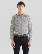 Pegaso ネクタイ柄プリントシャツ