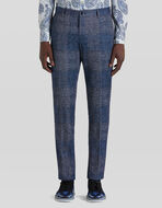 TAILORED TROUSERS IN CHECK JERSEY