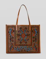 PAISLEY SHOPPING BAG WITH EMBROIDERY