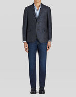 TAILORED WOOL AND SILK JACQUARD JACKET