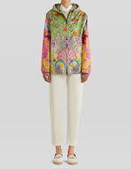 PATCHWORK PRINT SILK JACKET