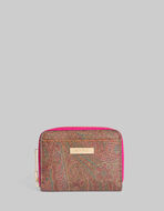 PAISLEY PURSE WITH MULTICOLORED INTERIOR