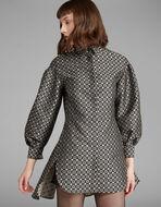 ジャカードシャツドレス