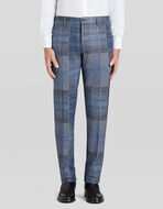 TAILORED PATCHWORK PRINT TROUSERS