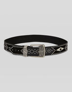 LEATHER BELT WITH STUDS