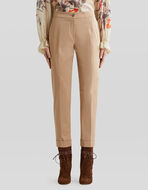 STRETCH COTTON TAILORED TROUSERS