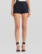 COTTON SHORTS WITH PEGASO BUTTONS