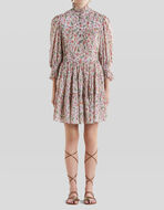 SHORT COTTON FLORAL PAISLEY DRESS