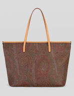 TOTE BAG WITH PAISLEY DESIGNS