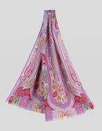 PAISLEY WOOL AND SILK SCARF