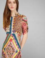 PATCHWORK PRINT DRESS