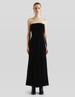 ベルベット ロングドレス