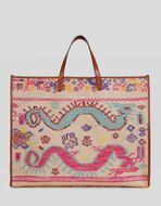 NAÏF DESIGN JACQUARD SHOPPING BAG