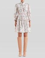 FLORAL DESIGN CRÊPE DE CHINE DRESS