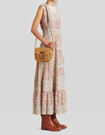 PEGASO SHOULDER BAG IN RAFFIA