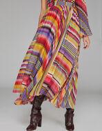 条纹褶皱短裙