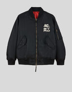 REVERSIBLE BOMBER JACKET WITH ORNAMENTAL EMBROIDERY