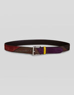 PAISLEY BELT WITH SUEDE INSERTS