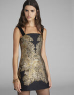 EMBROIDERED JACQUARD MINI DRESS