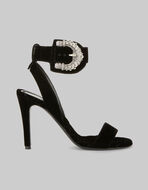 SANDALS WITH JEWELLED BUCKLE