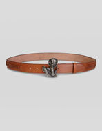 LEATHER BELT WITH SNAKE BUCKLE