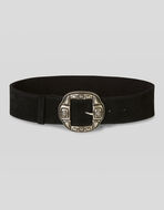 SUEDE BELT WITH ORNAMENTAL BUCKLE
