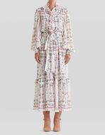 FLORAL CRÊPE DE CHINE DRESS