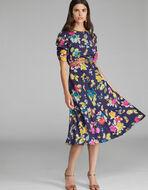 花柄プリント入り ドレス