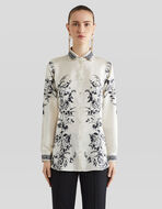 SILK SHIRT WITH FOLIAGE PRINT