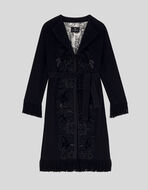 EMBROIDERED WOOL ROBE COAT