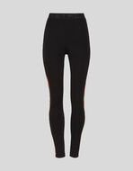 JERSEY LEGGINGS WITH EMBROIDERED BAND