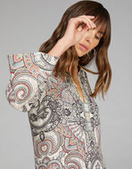 PAISLEY PRINT TUNIC DRESS