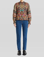 FLORAL PAISLEY QUILTED JACKET