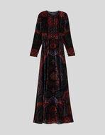 PAISLEY VELVET DRESS