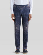 TAILORED TROUSERS WITH PAISLEY PRINT