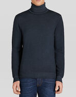POLO NECK WOOL JUMPER WITH PEGASO