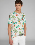 フローラルプリント Tシャツ