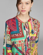 PATCHWORK PRINT JERSEY DRESS