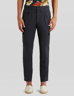 COTTON GABARDINE CARGO TROUSERS