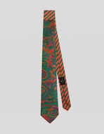 TWO FABRIC PAISLEY TIE