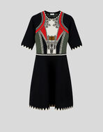 GRAPHIC PATTERN JACQUARD DRESS
