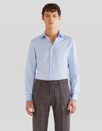 SHIRT IN TWO JACQUARD FABRICS